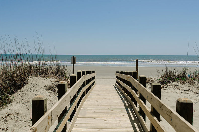Direct access to the beach is a short walk away