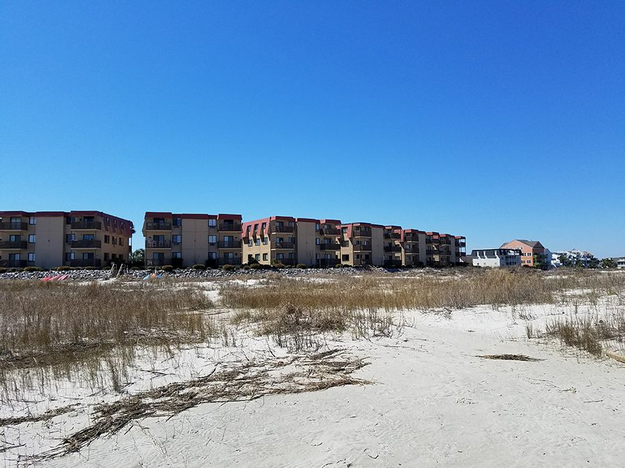 View of the condos from the beach
