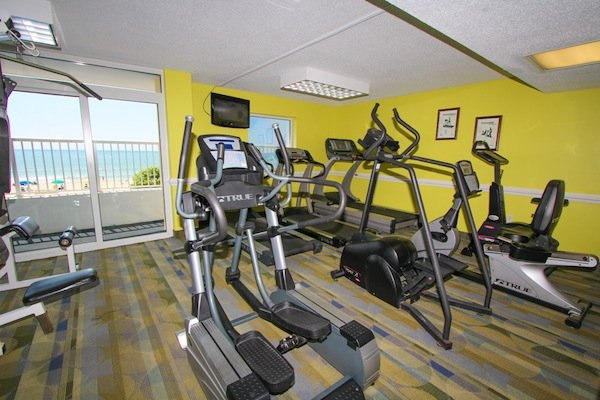 On-site fitness room - stay fit during your vacation