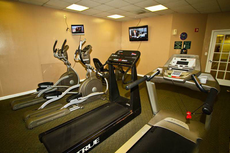 The fitness room located on the ground floor next to the Noble Company office