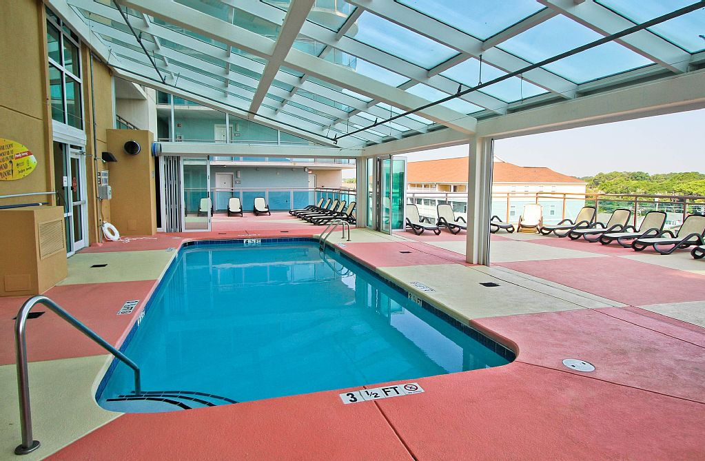 Heated indoor pool on 5th floor