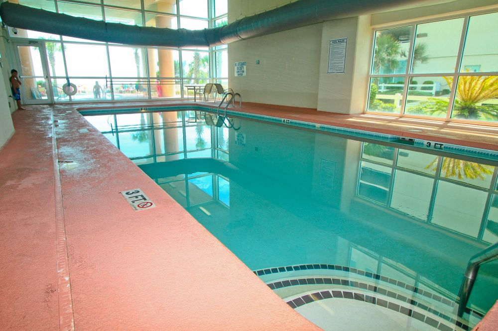 Spacious indoor pool at Crescent Keyes