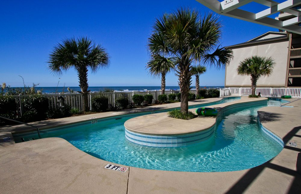 Relax in the oceanfront lazy river