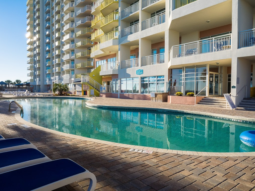 Cool off in the outdoor pool at Bay Watch