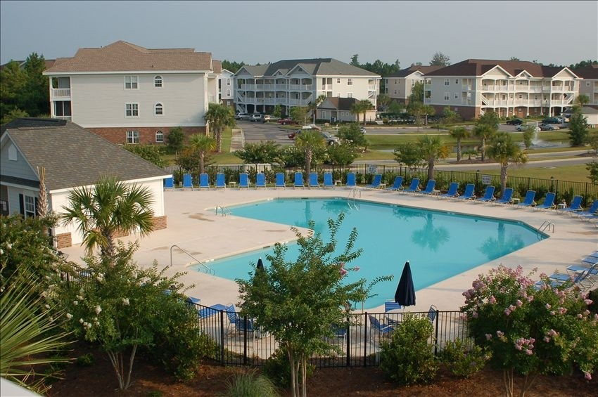 Large outdoor community pool at Ironwood