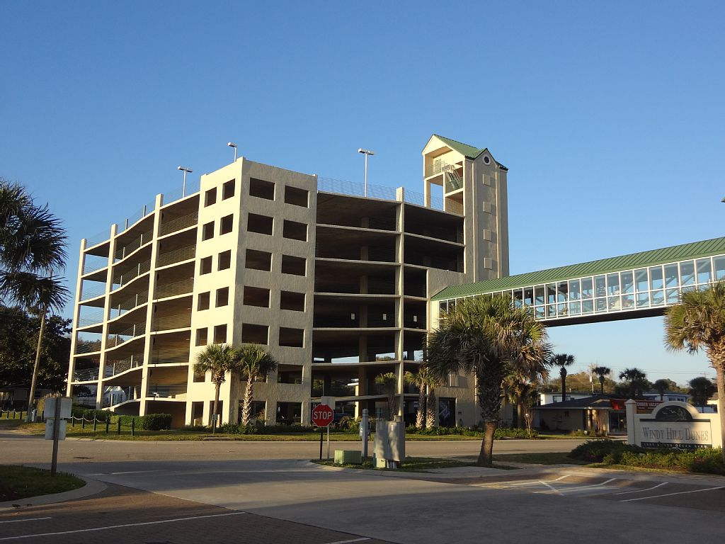 Parking garage at Windy Hill Dunes